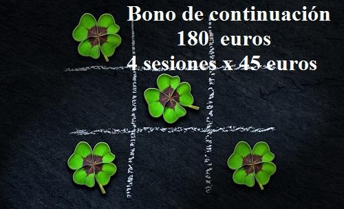 Bono de continuación 4 sesiones